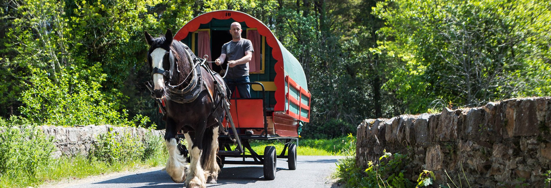 Drive your own caravan on our exclusive horse caravan trips