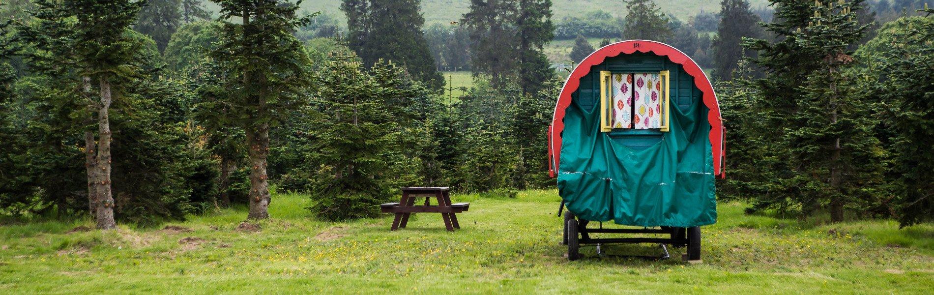 Glamping in a gypsy caravan at Clissmann Horse Caravans in Wicklow, Ireland