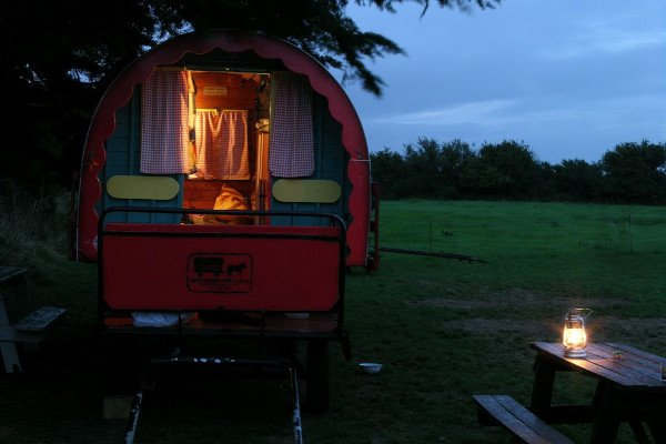 Glamping in a gypsy caravan in Wicklow Ireland