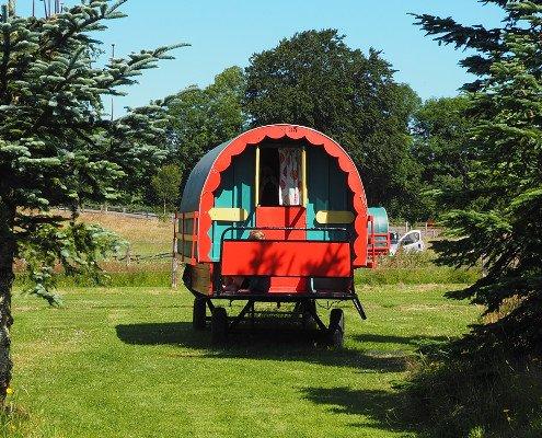 Glamping in a gypsy caravan in Ireland