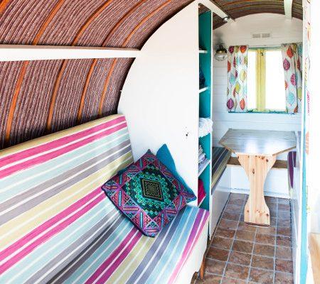 Interiors of gypsy caravan
