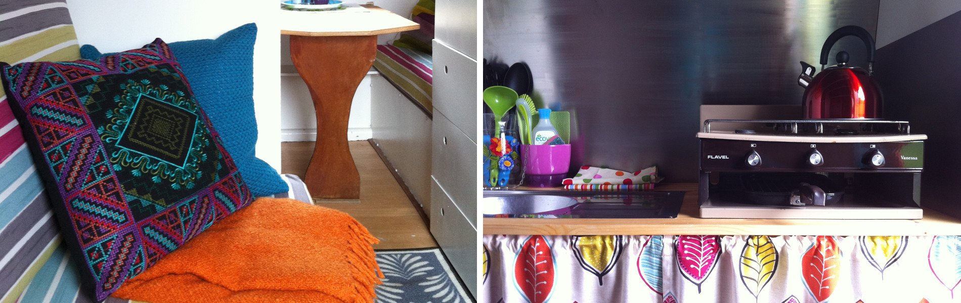 Glamping in a gypsy horse caravan, the interiors
