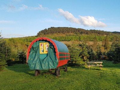 Glamping in Wicklow Ireland Clissmann Horse Caravans